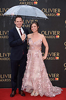 Patrick Myles &amp; Amy Noble arriving for the Olivier Awards 2018 at the Royal Albert Hall, London, UK. <br /> 08 April  2018<br /> Picture: Steve Vas/Featureflash/SilverHub 0208 004 5359 sales@silverhubmedia.com