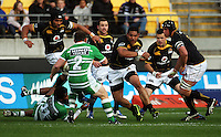 Wellington's Matthew Luamanu takes the ball up. Air NZ Cup - Wellington Lions v Manawatu Turbos at Westpac Stadium, Wellington, New Zealand. Saturday 3 October 2009. Photo: Dave Lintott / lintottphoto.co.nz