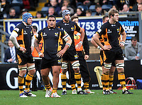 High Wycombe, England.  during the Aviva Premiership match between London Wasps and Sale Sharks at Adams Park on December 23. 2012 in High Wycombe, England.