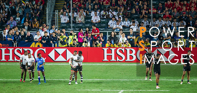 Fiji vs new Zealand during the HSBC Sevens Wold Series Cup Final match as part of the Cathay Pacific / HSBC Hong Kong Sevens at the Hong Kong Stadium on 29 March 2015 in Hong Kong, China. Photo by Juan Manuel Serrano / Power Sport Images