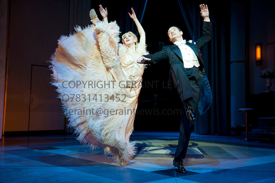 Top Hat . Music and Lyrics by Irving Berlin based on the RKO movie. A world Premiere directed by Matthew White, choreographed by Bill Deamer. With Tom Chambers as Jerry Travers, Summer Strallen as Dale Tremont. Opens at Aldwych Theatre   on 9/5/12 .CREDIT Geraint Lewis