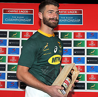 PRETORIA, SOUTH AFRICA - OCTOBER 06: Willie le Roux of South Africa 50th cap during the Rugby Championship match between South Africa Springboks and New Zealand All Blacks at Loftus Versfeld Stadium. on October 6, 2018 in Pretoria, South Africa. Photo: Steve Haag / stevehaagsports.com