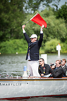 Henley Royal Regatta, Henley on Thames, Oxfordshire, 29 June-3 July 2015.  Thursday  11:21:42   30/06/2016  [Mandatory Credit/Intersport Images]<br /> <br /> Rowing, Henley Reach, Henley Royal Regatta.<br /> <br /> Sir Matthew Pinsent, CBE, Umpire