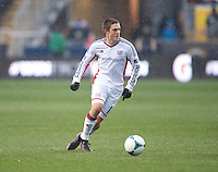 Kelyn Rowe.  The Philadelphia Union defeated the New England Revolution, 1-0, at PPL Park in Chester, PA.
