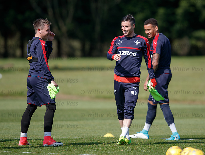 Barrie McKay, Michael O'Halloran and James Tavernier
