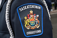 Saskatchewan Corrections badge is seen during a police memorial parade in Ottawa Sunday September 26, 2010.