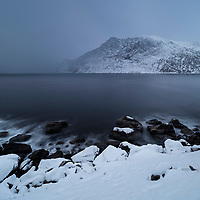 Winter view of Mefjord, Senja, Norway