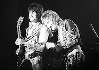 Rod Stewart and Faces (Ronnie Wood and Rod Stewart), City Hall, Newcastle upon Tyne 1972   Credit: Ian Dickson/MediaPunch