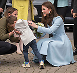 No UK Use For 28 Days - Until 7th June 2017<br /><br />11.05.2017; Luxembourg: DUCHESS OF CAMBRIDGE VISITS LUXEMBOURG<br />3-year-old Teo Schleck goes shy on Kate Middleton after handing her a posy when she visited a cycle themed festival in Place Clairefontaine.<br />Kate was on a day visit to the Grand Duchy of Luxembourg to attend the official commemoration of the 1867 Treaty of London.<br />Mandatory Photo Credit: &copy;Francis Dias/NEWSPIX INTERNATIONAL<br /><br />IMMEDIATE CONFIRMATION OF USAGE REQUIRED:<br />Newspix International, 31 Chinnery Hill, Bishop's Stortford, ENGLAND CM23 3PS<br />Tel:+441279 324672  ; Fax: +441279656877<br />Mobile:  07775681153<br />e-mail: info@newspixinternational.co.uk<br />Usage Implies Acceptance of OUr Terms &amp; Conditions<br />Please refer to usage terms. All Fees Payable To Newspix International
