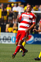 28 AUGUST 2010:  FC Dallas' Daniel Hernandez (2) during MLS soccer game between FC Dallas vs Columbus Crew at Crew Stadium in Columbus, Ohio on August 28, 2010.