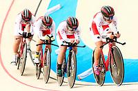 Picture by Alex Whitehead/SWpix.com - 09/12/2017 - Cycling - UCI Track Cycling World Cup Santiago - Velódromo de Peñalolén, Santiago, Chile - Japan's Yuya Hashimoto, Nao Suzuki, Kie Furuyama and Kisato Nakamura compete in the Women's Team Pursuit first round