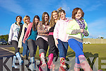 GIVING IT WELLY: Students of St Joseph's Secondary School in Ballybunion who held a welly-wearing day for Concern on Friday, l-r: Tara McDonald, Lucy Jane McCarthy, Kayleigh Ryal, Amanda Collins, Jessica Keane, Molli Buckley, Ciara Walsh.