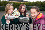 FILM MAKERS: Rachel Moroney (Cromane, Aoife Sweeney (Glenbeigh) and Adrienne Brosnan (Glenbeigh), students from Killorglin Community College, who took part in a Film Making project in Killorglin.