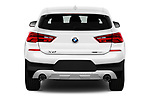 Straight rear view of 2018 BMW X2 Premiere 5 Door SUV Rear View  stock images