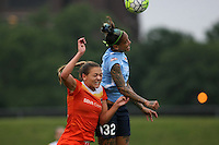 Piscataway, NJ - Saturday July 09, 2016: Tasha Kai, Cami Privett during a regular season National Women's Soccer League (NWSL) match between Sky Blue FC and the Houston Dash at Yurcak Field.