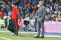 Real Madrid CF vs Athletic Club de Bilbao (5-1) at Santiago Bernabeu stadium. The picture shows Jose Mourinho and Marcelo Bielsa. November 17, 2012. (ALTERPHOTOS/Caro Marin) NortePhoto