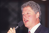 Governor Bill Clinton (Democrat of Arkansas) speaks at a rally at Hesser Business College in Manchester, New Hampshire on February 17, 1992.  The Clintons were campaigning in advance of New Hampshire's &quot;First in the Nation&quot; presidential primary.<br /> Credit: Ron Sachs / CNP