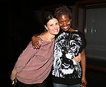 Idina Menzel and LaChanze during the Broadway Opening Night  AEA Gypsy Robe Ceremony honoring Curtis Holbrook for  'IF/THEN' at the Richard Rodgers Theatre on March 30, 2014 in New York City.