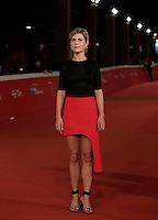 "L'attrice francese Marina Fois posa sul red carpet per la presentazione del film ""Irreprochable"" al Festival Internazionale del Film di Roma, 17 ottobre2016.<br />