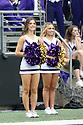 SEATTLE, WA - SEPTEMBER 14: Washington Cheer member Bella Ashline entertained fans during the college football game between the Washington Huskies and the Hawaii Rainbow Warriors on September 14, 2019 at Husky Stadium in Seattle, WA.