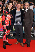 "Timothee Chalamet, director, Felix van Groeningen and Steve Carell<br /> arriving for the London Film Festival screening of ""Beautiful Boy"" at the Cineworld Leicester Square, London<br /> <br /> ©Ash Knotek  D3441  13/10/2018"