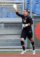 "Calcio: allenamento a porte aperte ""Open Day"" per la presentazione della Roma, a Roma, stadio Olimpico, 21 agosto 2013.<br /> AS Roma goalkeeper Julio Sergio, of Brazil, attends the club's Open Day training session at Rome's Olympic stadium, 21 August 2013.<br /> UPDATE IMAGES PRESS/Riccardo De Luca"