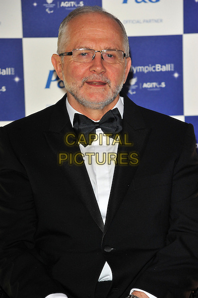 Sir Philip Craven.The Paralympic Ball in aid of the British Paralympic Association & the Agitos Foundation, Grosvenor House Hotel, Park Lane, London, England..September 5th, 2012.half length black tuxedo mouth open glasses beard facial hair .CAP/CJ.©Chris Joseph/Capital Pictures.