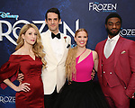 Caissie Levy,  John Riddle, Patti Murin and Jelani Alladin attends the Broadway Opening Night After Party for 'Frozen' at Terminal 5 on March 22, 2018 in New York City.