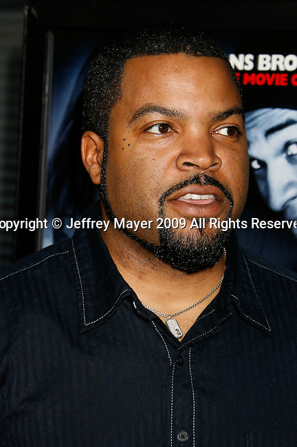 """HOLLYWOOD, CA. - May 20: Ice Cube arrives at the Los Angeles Premiere of """"Dance Flick"""" at the ArcLight Theatre on May 20, 2009 in Hollywood, California."""