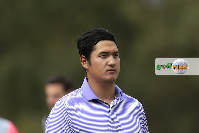 Sihwan Kim (KOR) on the 18th green during Round 3 of the ISPS HANDA Perth International at the Lake Karrinyup Country Club on Saturday 25th October 2014.<br /> Picture:  Thos Caffrey / www.golffile.ie