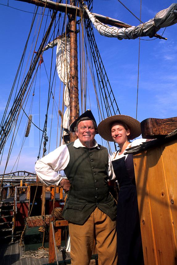 Boston Massachusetts MA USA Boston Tea Party Actors for Tourists on ship.