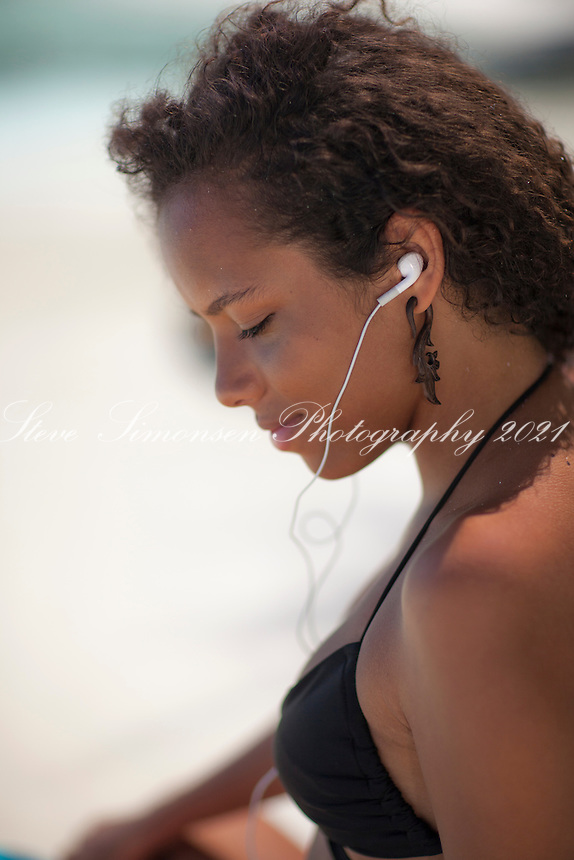 Young woman on the beach <br />