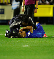 AFC Wimbledon's Liam Trotter is seen to during the Sky Bet League 1 match between AFC Wimbledon and MK Dons at the Cherry Red Records Stadium, Kingston, England on 22 September 2017. Photo by Carlton Myrie / PRiME Media Images.