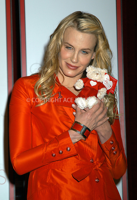 Daryl Hannah attending American Heart Association's fashion event to launch 'GO RED,' a national initiative to increase awareness of heart disease in women. New York, February 4, 2004. Please byline: AJ SOKLANER/NY Photo Press.   ..*PAY-PER-USE*      ....NY Photo Press:  ..phone (646) 267-6913;   ..e-mail: info@nyphotopress.com