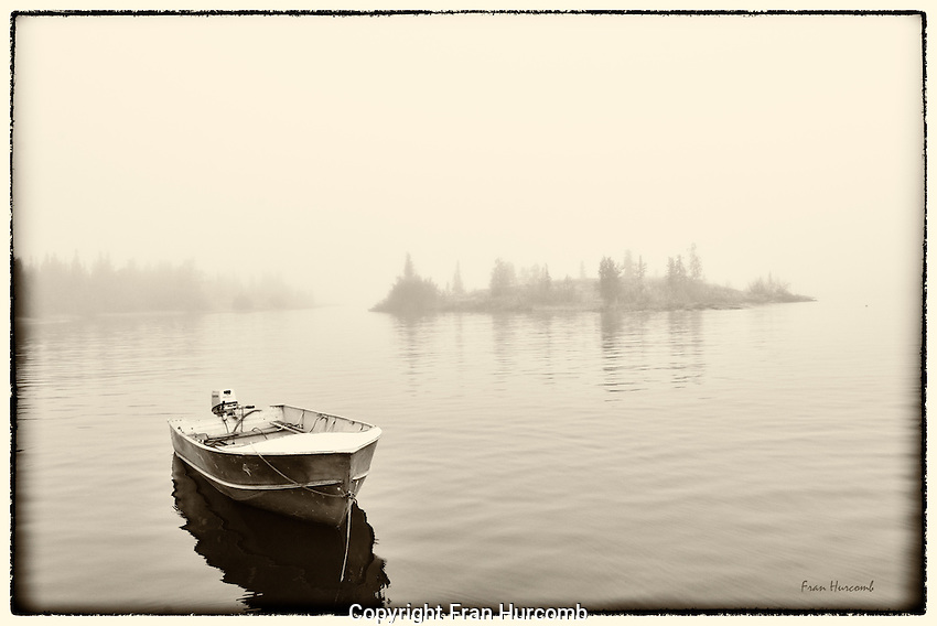 fog and small boat