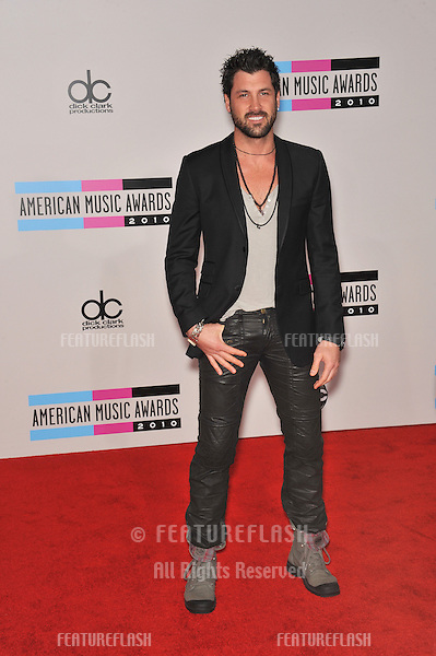Maksim Chmerkovskiy at the 2010 American Music Awards at the Nokia Theatre L.A. Live in downtown Los Angeles..November 21, 2010  Los Angeles, CA.Picture: Paul Smith / Featureflash