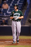Daytona Tortugas third baseman Gavin LaValley (15) at bat during a game against the Tampa Yankees on August 5, 2016 at George M. Steinbrenner Field in Tampa, Florida.  Tampa defeated Daytona 7-1.  (Mike Janes/Four Seam Images)