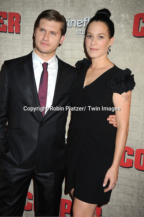 """Tom Weston-Jones and Franka Potente  attends the BBC America premiere of The New York 1860's Crime Drama """"Copper"""" on August 15, 2012 at MoMa in New York City."""