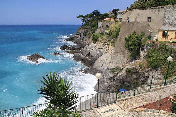 Along the Mediterranean Sea in Bogliasco, Genova, Italy.