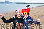 Maeve and Paddy Moran of the Kerries taking the Polar Plunge for the Special Olympics at Fenit on Saturday morning.