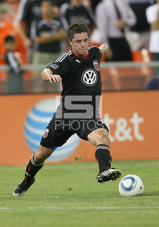 Devon McTavish #18 of D.C. United during a US Open Cup semi final match against the Columbus Crew at RFK Stadium on September 1 2010, in Washington DC. Columbus won 2-1 aet.