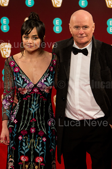 Hayley Squires & Dave Johns (Movie: I, Daniel Blake).<br /> <br /> London, 12/02/2017. Red Carpet of the 2017 EE BAFTA (British Academy of Film and Television Arts) Awards Ceremony, held at the Royal Albert Hall in London.<br /> <br /> For more information please click here: http://www.bafta.org/