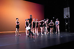 """Space & Tech Rehearsal for """"Synthesis"""", combined production of 3D Project Jazz and Cary Ballet companies for """"United We Dance"""" Spring Concert. Cary Arts Center, 11 March 2014"""