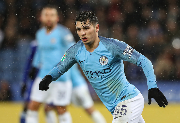 Manchester City's Brahim Diaz<br /> <br /> Photographer Andrew Kearns/CameraSport<br /> <br /> English League Cup - Carabao Cup Quarter Final - Leicester City v Manchester City - Tuesday 18th December 2018 - King Power Stadium - Leicester<br />  <br /> World Copyright © 2018 CameraSport. All rights reserved. 43 Linden Ave. Countesthorpe. Leicester. England. LE8 5PG - Tel: +44 (0) 116 277 4147 - admin@camerasport.com - www.camerasport.com