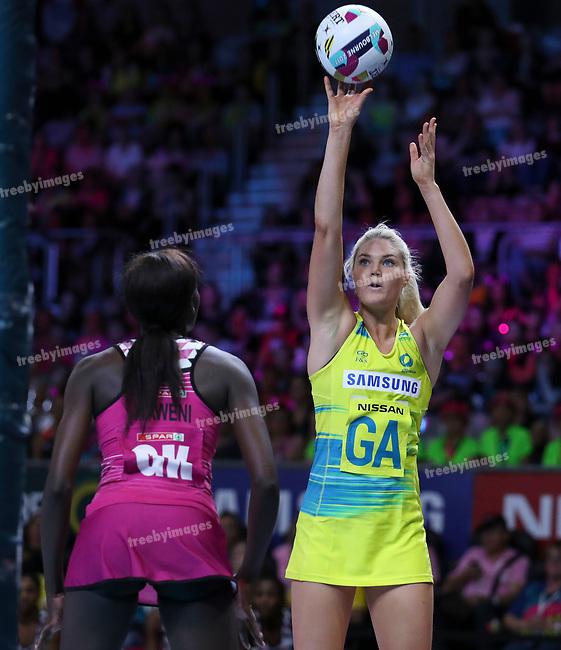 29/10/17 Fast5 2017<br /> Fast 5 Netball World Series<br /> Hisense Arena Melbourne<br /> Australia v South Africa <br /> Gretal Tippett<br /> <br /> <br /> <br /> <br /> <br /> Photo: Grant Treeby