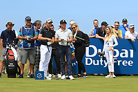 Guido Migliozzi (ITA) and Niall Horan (AM) on the 2nd during the Pro-Am of the Irish Open at LaHinch Golf Club, LaHinch, Co. Clare on Wednesday 3rd July 2019.<br /> Picture:  Thos Caffrey / Golffile<br /> <br /> All photos usage must carry mandatory copyright credit (© Golffile | Thos Caffrey)