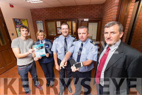 Pictured on Friday morning last ahead of the National Property Recover day which takes place on Thursday September 22nd at Castleisland Garda Station, were l-r: John Griffin (Clerical Officer), Sergeant Miriam Mulhall Nolan, Inspector Donal Ashe, Sergeant Michael Fleming and Detective Inspector John Brennan.