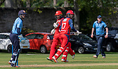 Issued by Cricket Scotland - Tilney Regional Series - Knights V Warriors - Grange CC - Budge and Mommsen - picture by Donald MacLeod - 28.04.19 - 07702 319 738 - clanmacleod@btinternet.com - www.donald-macleod.com