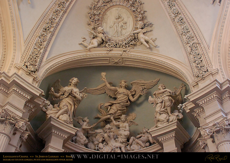 Lancellotti Chapel Francesco da Volterra 1590 Stucco Angels and Putti Giovanni Antonio de Rossi 1680 Stuccoed Dome Filippo Carcani 1685 St John in Lateran Rome