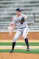 Virginia Cavaliers relief pitcher Connor Jones (30) in action against the Wake Forest Demon Deacons at Wake Forest Baseball Park on May 17, 2014 in Winston-Salem, North Carolina.  The Demon Deacons defeated the Cavaliers 4-3.  (Brian Westerholt/Four Seam Images)